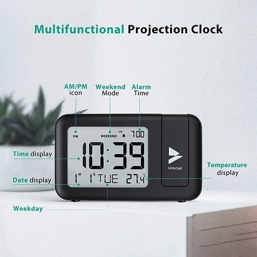 Hosome-Projection-Alarm-Clock-Black