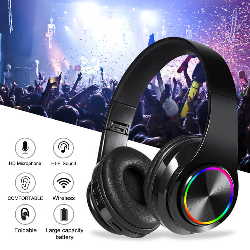 Strong-Bass-Wireless-Bluetooth-Headphone-B39-Black