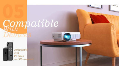 WiFi Portable Projector Supports 1080P