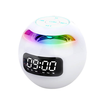 Wireless Portable Sphere Clock & Bluetooth Speaker G90