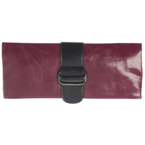 Shiraleah - Harper - Vegan Clutch - Bold Berry Color