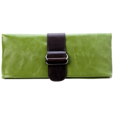 Shiraleah Harper Vegan Clutch Bold Leaf Color