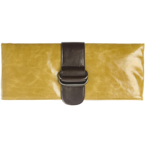 Shiraleah - Harper - Vegan Clutch - Bold Mustard Color