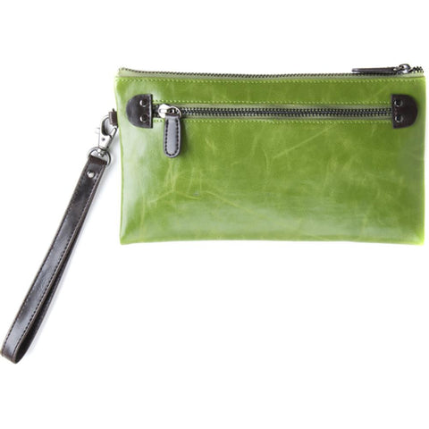 Shiraleah Harper Vegan Zip Wristlet - Leaf Green