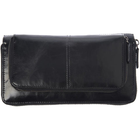 Shiraleah Harper Vegan Zip Wallet in Black