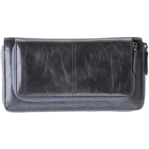 Shiraleah Harper Vegan Zip Wallet in Graphite