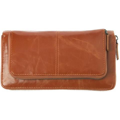Shiraleah Harper Vegan Zip Wallet in Bold Orange