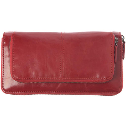 Shiraleah Harper Vegan Zip Wallet in Bold Pomegranate Color
