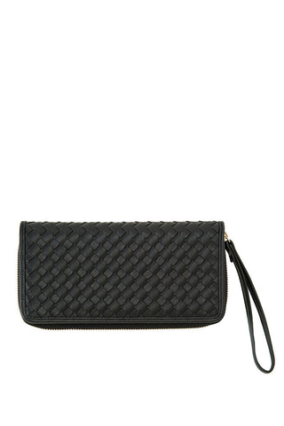 Shiraleah Lola Wallet in Soft Black Vegan Leather