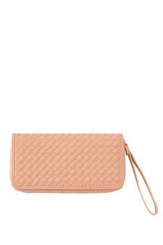 Shiraleah Lola Wallet in Soft Nude Vegan Leather