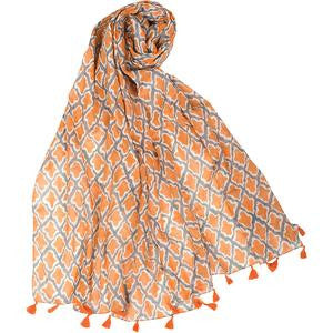 RockFlowerPaper Sumba Orange Cotton Tassel Scarf