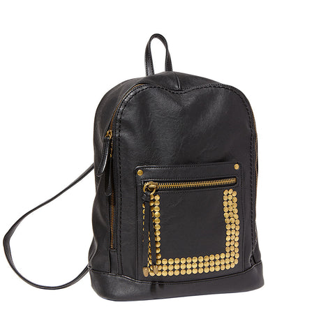Big Buddha Becky Vegan Studded Backpack (black)