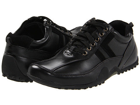 Deer Stags Donald Slip and Oil Resistant Oxford (wide, black)