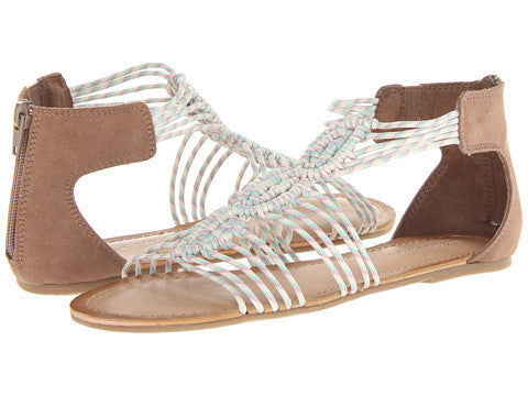 Madden Girl Knots Vegan Gladiator Sandals (taupe, size 7.5)