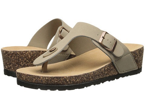 Dirty Laundry Track N Field Wedge Sandal. Taupe Color. Vegan. Size 7