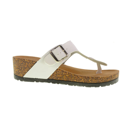 Track N Field VEGAN Wedge Sandal by Dirty Laundry - White - Size 7