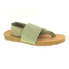 Juggernaut Lycra Footbed Sandal. Stretchy Thong Vegan Sandal in Sage Green. By Dirty Laundry. Size 8