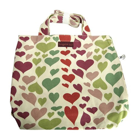 Bungalow360 Reversible Vegan Tote Bag (Hearts) 41118-HE