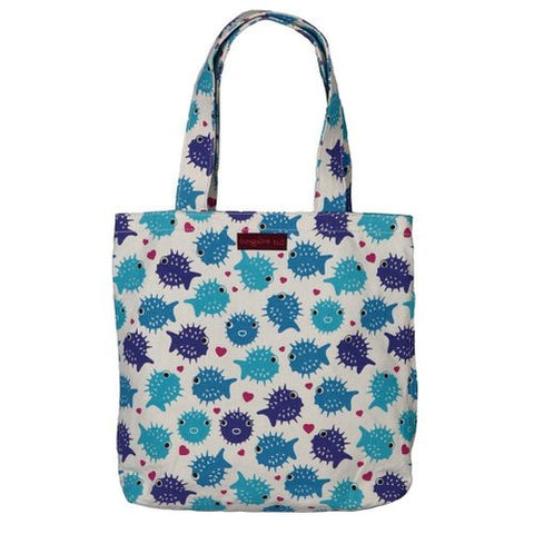 Bungalow360 Reversible Vegan Tote Bag (Puffer Fish)
