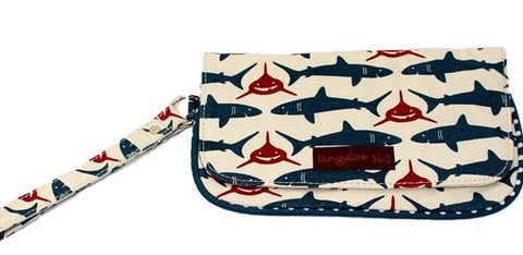 Bungalow360 Vegan Natural Cotton Wristlet (Shark)