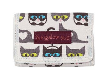 Bungalow360 Vegan Tri-Fold Wallet (cat)