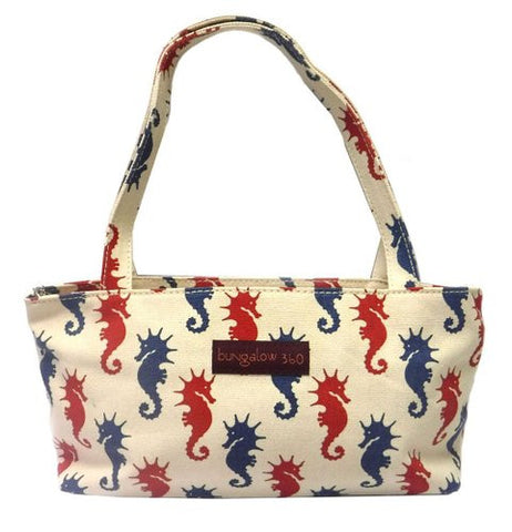 Bungalow360 Mini Vegan Cotton Bag (Seahorse)