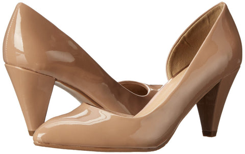 CL BY CHINESE LAUNDRY Black Angelina Vegan Patent Dress Pumps. New Nude. Size 10