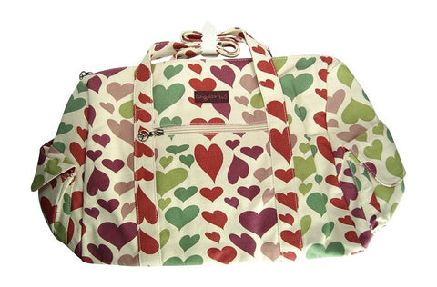 Bungalow360 Canvas Vegan Gym Bag (Hearts)