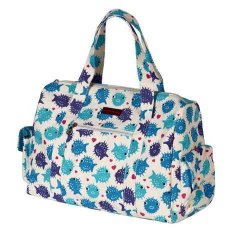 Bungalow360 Canvas Vegan Gym Bag (Puffer Fish)