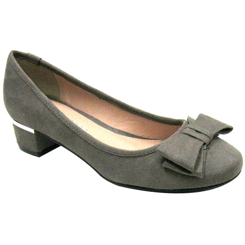 CL By Laundry - Bethanie Mod Vegan Pumps - Super Suede (steel/grey)