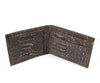 Cork Billfold in Black Vegan Crocodile. Sustainable harvested cork tree bark. Made in the U.S.A.