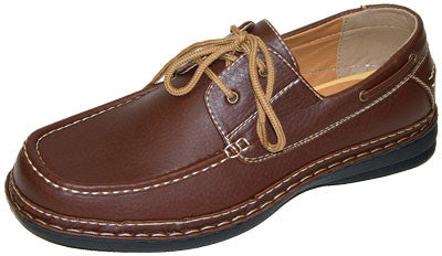 Rocus Bobby CAS-x53 Men's Vegan Boat Shoes (brown)