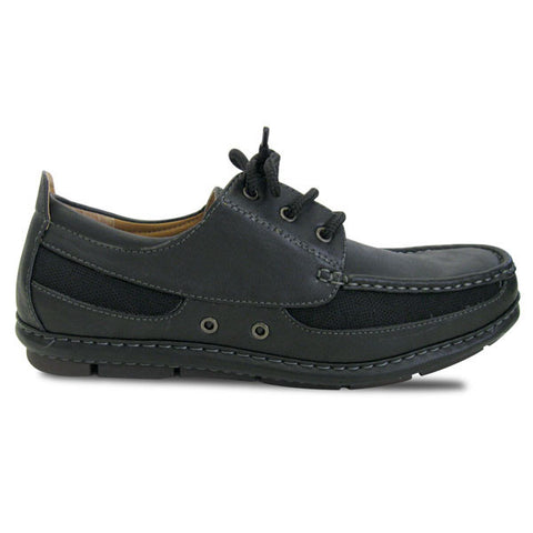 Rocus Baldwin CAS-60S Men's Vegan Boat Shoes (Size 8.5, black)
