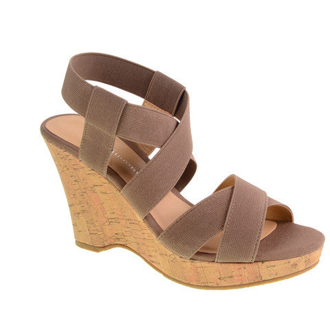 CL by Laundry Iconic Vegan Wedges (taupe)