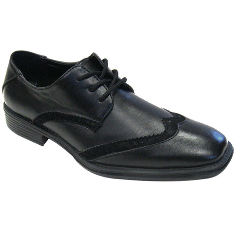 Rocus Carl Men's Wingtip Vegan Dress Shoe (black)