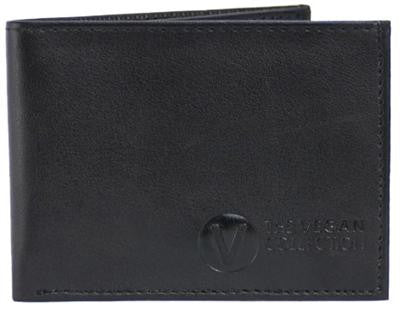 THE VEGAN COLLECTION - COMPACT - MEN'S BI-FOLD WALLET - BLACK