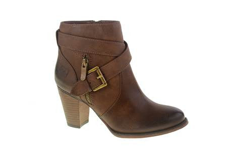 Dirty Laundry Dallas Burnished High Heel Ankle Boots (Rich Brown)