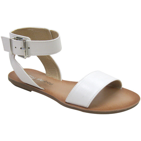 Dirty Laundry Bubbly Vegan Sandals (white)