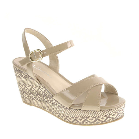 CL By Laundry Duet Vegan Wedge Sandals (nude, clearance)