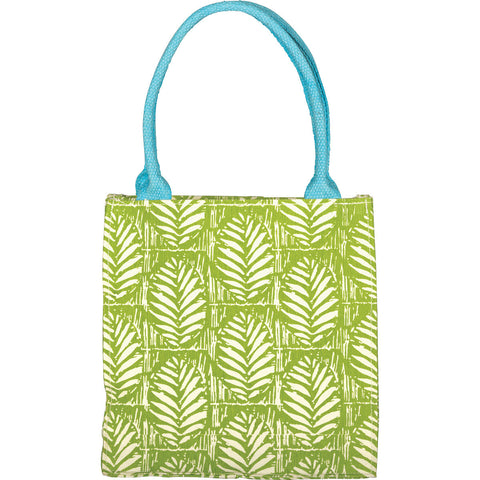 RockFlowerPaper Palm Design Itsy Bitsy Bag in Lime