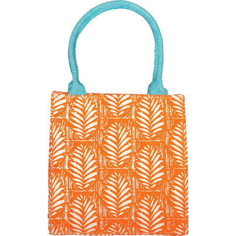 RockFlowerPaper Palm Design Itsy Bitsy Bag in Papaya Orange
