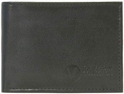 The Vegan Collection - Men's Bi-Fold Coin Wallet - Jeffrey (Black)