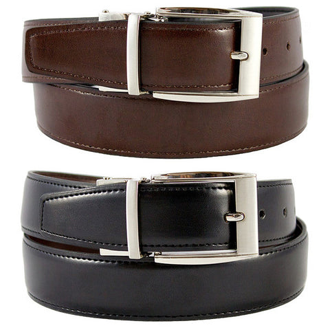 The Vegan Collection - Julian - Reversible VEGAN Belt (black/brown)