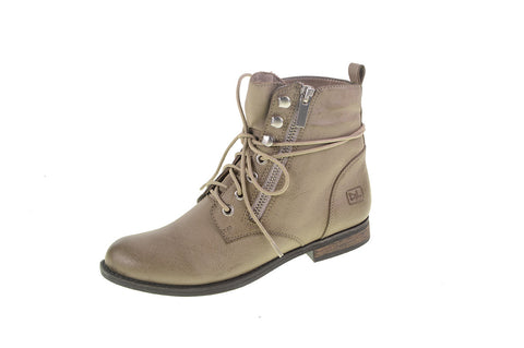 New Design! Dirty Laundry Kranberri Burnished Classic Lace Up Boots (Vegan Light Grey Leather)