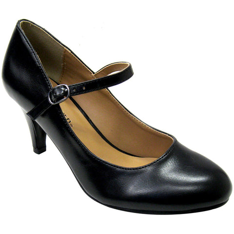 City Classified Kaylee-H Vegan Mary Jane Pump (black)
