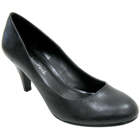 City Classified Kayson Classic Vegan Pumps (black)