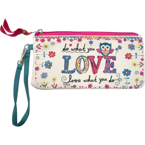 Natural Life Owl Do What You Love Vegan Pouch