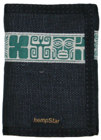 Hempstar Men's Vegan Wallet (mayan black)