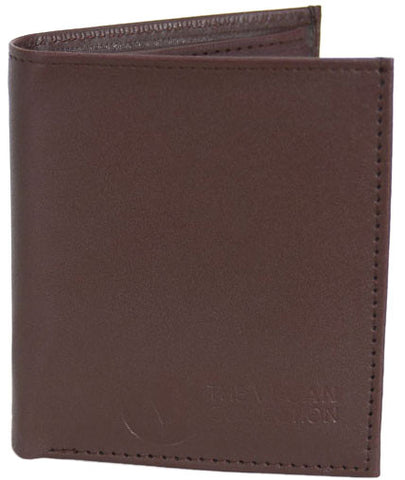 The Vegan Collection Men's National Bi-Fold Wallet (brown)