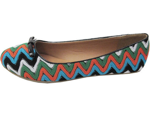 City Classified Oxton-S Vegan Ballerina Flats (bright multi, size 6.5)